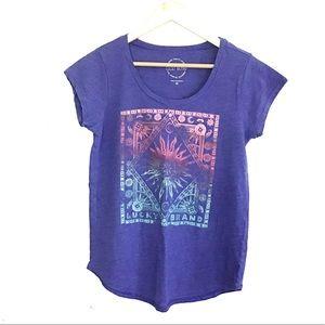 Lucky Brand Astrology Sun&Moon Graphic T Shirt